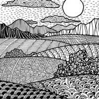 Paintings and drawings. Free art lessons and high school lesson plans. Resource for teachers, art lovers and enthusiasts. Doodles Zentangles, Zentangle Drawings, Art Drawings, Zen Doodle Patterns, Zentangle Patterns, Doodle Borders, Art Zen, Arte Elemental, Dibujos Zentangle Art