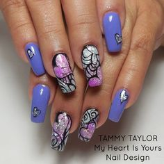 """♥ Tammy Taylor """"My Heart is Yours"""" Nail Design Step by Step"""