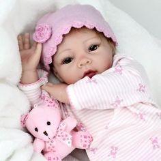 Realistica-vinile-morbido-silicone-BABY-handmad-RINATO-Baby-Doll-Compleanno-regalo-di-Pasqua