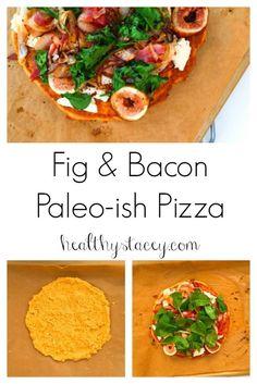 Paleo Fig & Bacon Pizza Recipe. Gluten-free, grain-free, pasture-raised and delicious.
