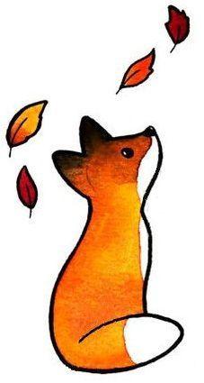Waterproof Temporary Tattoo Stickers Cute Painted Little Fox Water Transfer . - Waterproof Temporary Tattoo Stickers Cute Painted Little Fox Water Transfer …, - Cute Little Drawings, Cute Animal Drawings, Kawaii Drawings, Cute Drawings, Fox Drawing Easy, Cartoon Fox Drawing, Art Fox, Fox Sketch, Fall Drawings