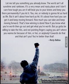Here is Rocky Quote Collection for you. Rocky Quote details about rocky balboa boxing inspirational. Rocky Quote keep moving forward rock. Now Quotes, Great Quotes, Quotes To Live By, Motivational Quotes, Life Quotes, Inspirational Quotes, You Got This Quotes, Best Quotes Of All Time, Best Movie Quotes