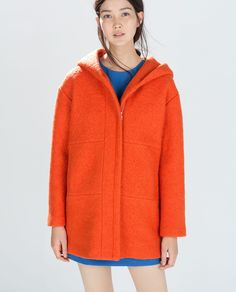 OVERCOAT WITH HOOD - Outerwear - WOMAN | ZARA United States