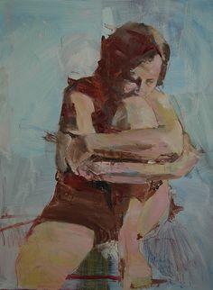 Seated Figure No. 1 | Mark Horst | Painting | Oil on Panel | #painting #art #oil | ✅