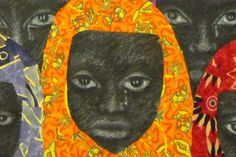 This painting is inspired by the current situation in Nigeria. Praying that the innocent girls will be released soon.