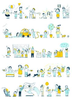 Chain of Happiness - martaaltes.com #illustration