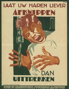 Al deze posters zijn verkregen via Geheugenvannederland.nl Het Geheugen van Nederland is een beeldbank waar iedereen online de collecties van musea, archieven en bibliotheken kan bekijken. Zeker een bezoekje waard. (bron: http://www.flabber.nl/linkdump/plaatjes/29-vintage-nederlandse-posters-die-veiligheid-propageren-18187