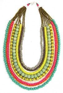 Folksy Bead Necklace-Tropicale