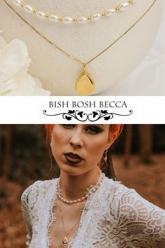 layered necklaces for a modern bride. a pearl choker is teamed with a modern teardrop locket necklaca Wedding Shoot, Wedding Day, New Jewellery Design, Alternative Bride, Pearl Choker, Woodland Wedding, Becca, Handmade Necklaces, Perfect Wedding