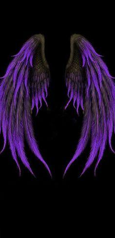 Pin on Drawing / Desenhos Purple Wallpaper Phone, Wings Wallpaper, Angel Wallpaper, Cute Wallpaper Backgrounds, Dark Wallpaper, Cute Wallpapers, Angel Wings Art, Angel Wings Drawing, Dark Wings