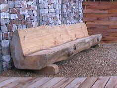 Log bench for firepit