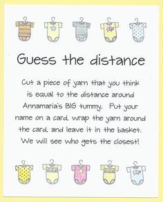 Baby Shower Game - Guess the Distance - Measure Mom's Tummy. $12.00, via Etsy.