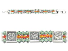 Spring Bling Bracelet....hmmm....maybe change the colors to something else, add a small flower bead....