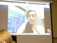 Currently using Skype with Abby to gain insight on our latest social media project...