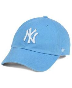 807179cc4b9  47 Brand Women s New York Yankees Powder Blue White Clean Up Cap - Blue.