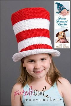 Crochet Pattern 002 - Cat In The Hat - All Sizes for Little Cat C