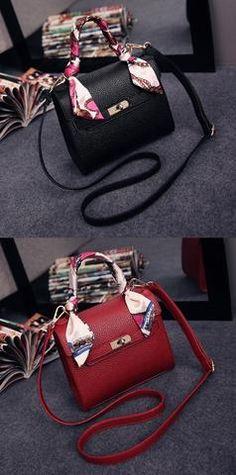 8abe0afe119f Womens Cute Classic Mini Scarf Handbag Trendy Handbags