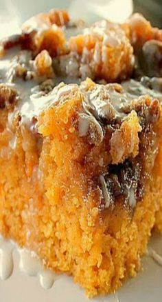 Sweet Potato Cinnamon Roll Cake