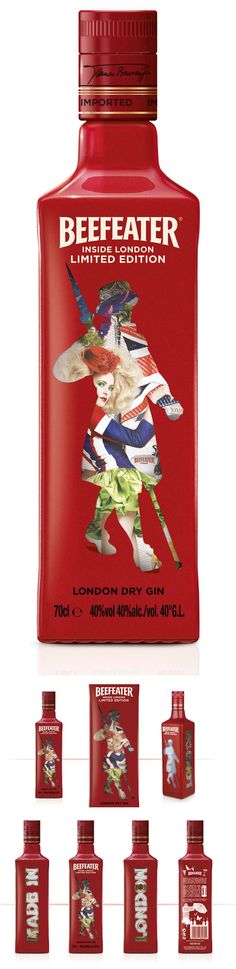 Beefeater Inside London Edition Bottle design by Coley Porter Bell