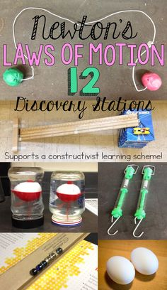 These 12 stations provide a chance for your students to sort out Newton's three laws of motion for themselves!