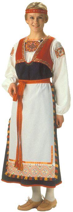 Tuuterin naisen kansallispuku. Kuva © Helmi Vuorelma Oy... The lady's national dress  Tuuteri... my mom made to me