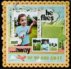 Image result for scrapbooking layouts for boys