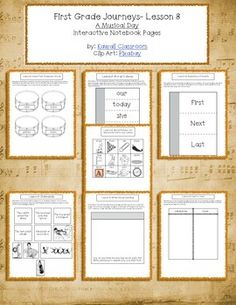 1st Grade Journeys (2014) Lesson 8 Interactive Notebook Pages. These interactive notebook pages are a great supplement to what is already included in the Journey's curriculum. I find that my students get more excited doing these types of activities rather than just workbook pages.
