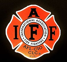 """The 4"""" IAFF Union True Red 3m Reflective Vinyl Firefighter Us Made Window Decal Empire Tactical http://www.amazon.com/dp/B00OQUPIH0/ref=cm_sw_r_pi_dp_ntwvub020FS7F"""