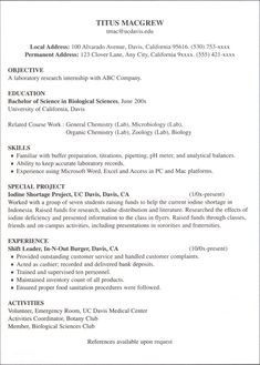 Sample Federal Resume Federal Resume Guidebook  Writing The Successful Outline Format