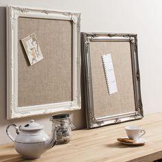 ACHICA | Gallery Brighton Fabric Memo Board, Silver