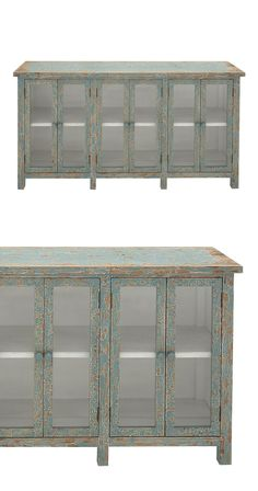 Organize treasured china, keepsakes, or décor in this handsome cabinet. Made from high-quality wood, this Leland Cabinet features stunning, weathered finishing and gorgeous glass windows. This cabinet ...  Find the Leland Cabinet, as seen in the Happy Hibernating Collection at http://dotandbo.com/collections/happy-hibernating?utm_source=pinterest&utm_medium=organic&db_sku=114512