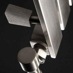 DQ Heating Delta Stainless Steel Vertical Designer Radiator | Only Radiators Tall Radiators, Towel Radiator, Designer Radiator, Door Handles, Stainless Steel, Door Knobs, Door Knob