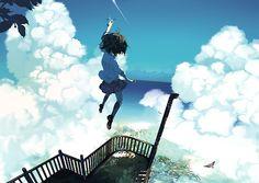 Anime illustration |「空」/「ウンたん」のイラスト [pixiv]