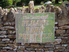 England - Always so polite.