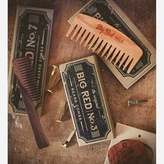 Treat your beard right with the finest wooden beard combs.  Classic Big Red Beard Combs.  #beard #beards #bearded #beardedmen #facialhair #menstyle #gentleman #noshave #mensstyle #girlswholovebeards #bigredbeardcombs #beardcare #mensgrooming #staygroomedgentlemen #beardstildeath photo by @chadhip
