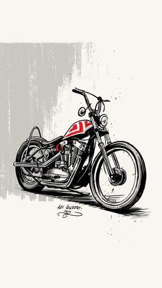 Bike Poster, Motorcycle Posters, Motorcycle Art, Bike Art, Truck Tattoo, Bike Drawing, Stippling Art, Biker Tattoos, Cool Small Tattoos