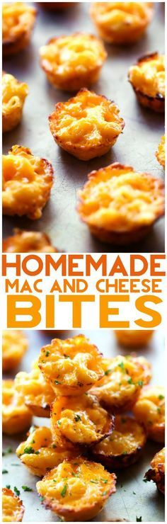 Homemade Mac and Cheese Bites... These are so simple and the perfect finger food ideal for serving kids and as an appetizer! These are DELICIOUS!: