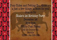 Cowboy Birthday Invitation - Printable - Western Birthday Invitations