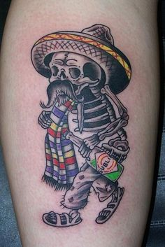 150 Most Frightening Day of the Dead Tattoos cool  Check more at https://tattoorevolution.com/day-of-the-dead-tattoos/