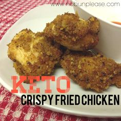 Crispy and delicious #keto fried #chicken! / #lowcarb ♥ shared via https://facebook.com/lowcarbzen