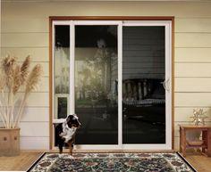 Pet door ideas (product: #JELD-WEN Premium Vinyl Sliding Patio door with integrated pet door)