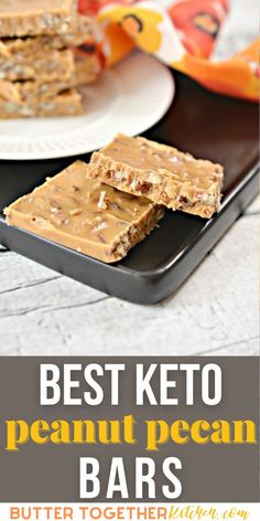 These keto peanut pecan bars from Butter Together Kitchen are super delicious and easy to make! You will love these sweet and crunchy bars that are a little addictive. They are the perfect keto snack! #ketopeanutpecanbars #ketobars #ketopeanutbars #ketodessert #easyketorecipes #healthy #healthyrecipes