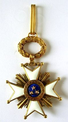 LETTLAND - Orden der Drei Sterne Lettland Kreuz. 2. Klasse, 1. Modells 1924-1940