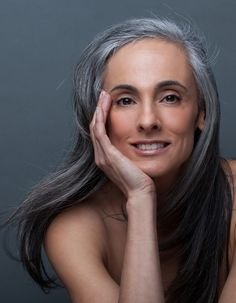 Claudine Penedo  Grey hair model representation: CESD Grey hair, silver hair, salt & pepper mature model, model white hair, natural hair, portrait beauty, head shot