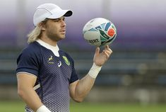 South Africa's Faf de Klerk spins the ball during a training session in Tokyo, Japan, Wednesday, Oct. The Springboks play Wales in a Rugby World Cup semifinal in Yokohama on Sunday Oct. Rugby Championship, Best Positions, All Blacks, Rugby World Cup, Left Wing, The Absence, Under Pressure, Yokohama, Best Player
