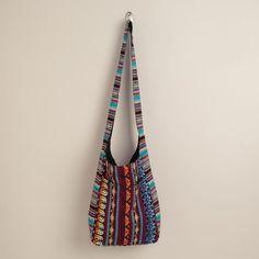 Multicolored Woven Cross-Body Hobo Bag - $24.99