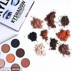 From lips to lids! As Kylie Jenner launches a new KYSHADOW palette, her make-up artist demonstrates the perfect way to use each of the bronze and brown eye shades  | Daily Mail Online