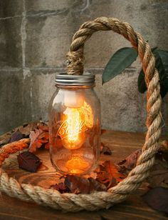 Happy thanksgiving and original manila rope lights by atelier 688 mason jar lighting aloadofball Choice Image