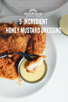 Add all ingredients to a small mixing bowl, whisking to fully combine. Sauce Recipes, Chicken Recipes, Homemade Honey Mustard, Honey Mustard Dressing, Homemade Dressing, Chicken Strips, Sweet Sauce, Spinach Salad, Canapes