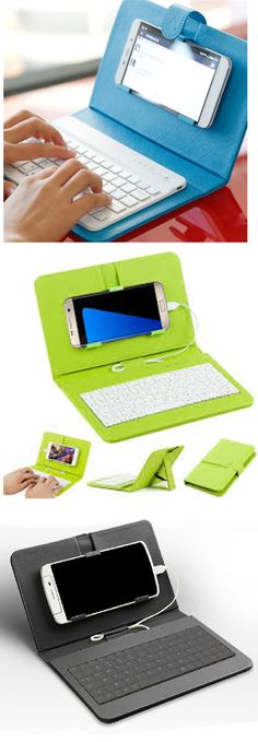 "General Wired Keyboard Flip Holster Case For Andriod Mobile Phone!! Physical keyboard design that you can easy to type on the keyboard quickly and smoothly. High compactiy with most android phone with OTG function and micro USB jack. Make your cellphone become ""tablet"" and let your hand free. Cell phone kickstand function, you can stand your phone up to 60 degree then enjoy the music Fit for most phone between 4.2'' to 6.8''."